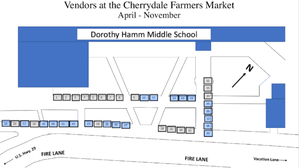 Cherrydale Farmers Market Map