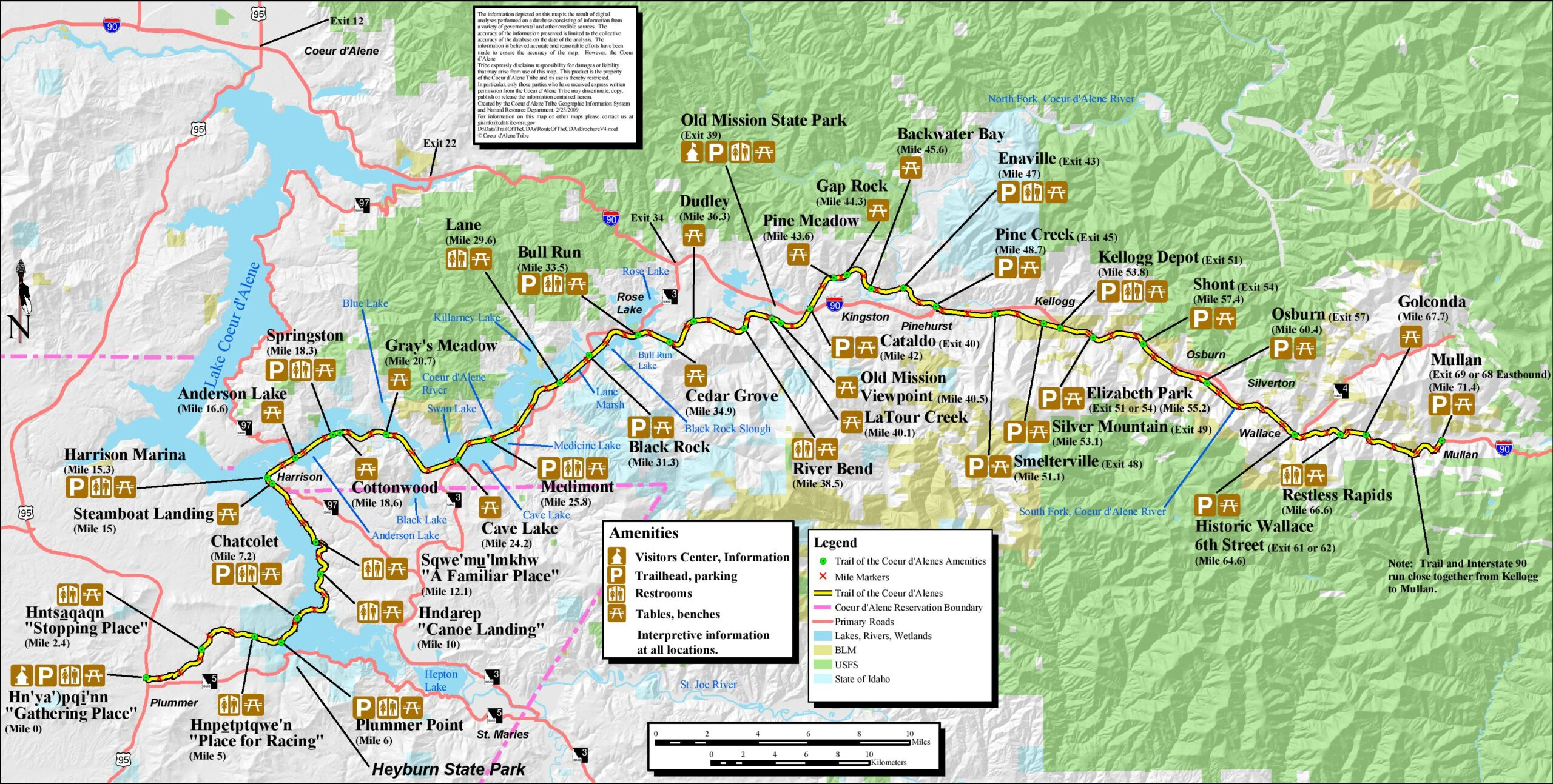 Trail Map for the Trail of the CDA's