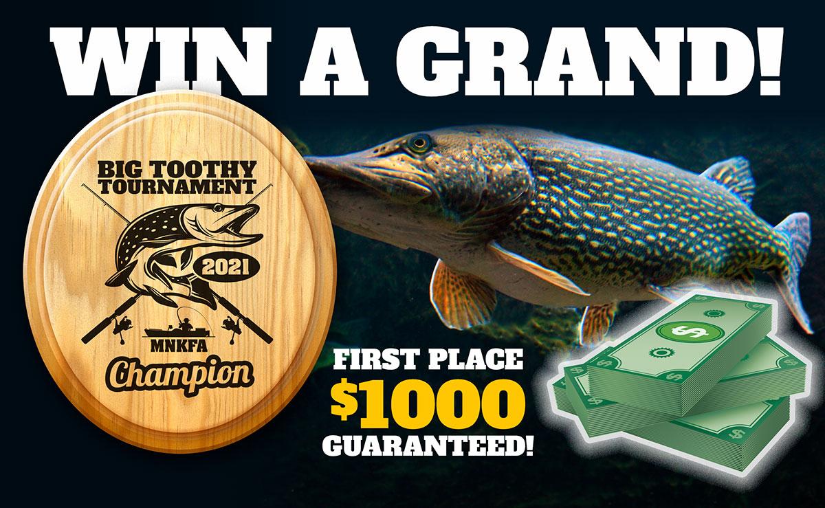 2021 Big Toothy Kayak Fishing Tournament $1000 Grand Prize