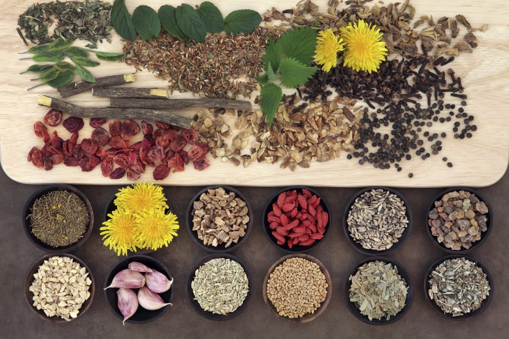 table of superfoods