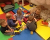 group of kids playing with cubes