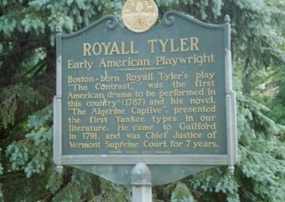 Royall and Mary Tyler: Downtown Brattleboro