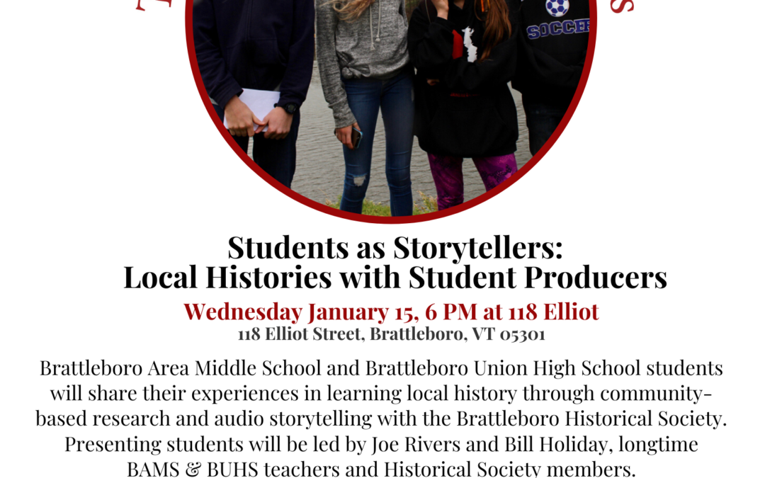 January 2020 Roundtable: Students as Storytellers: Local Histories with Student Producers