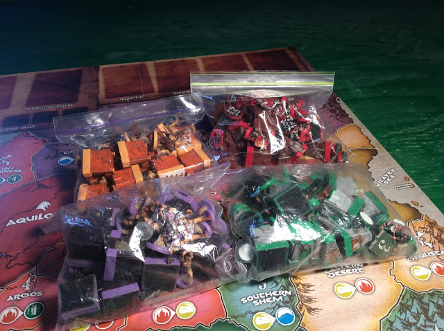 Age of Conan The Strategy Game Board Game - Painted Miniatures - Packed Up