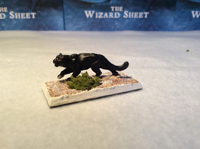 Miniature panther 32mm for role playing games and miniatures Games