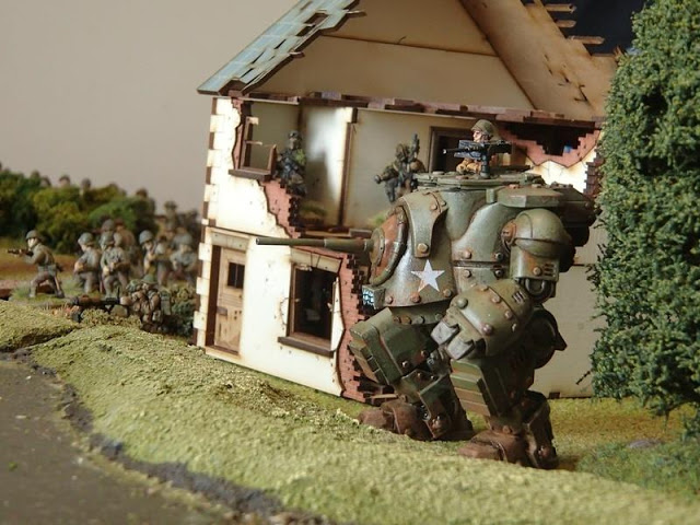 American Grizzly in Konflikt '47 - Image from Clockwork Goblin Miniatures