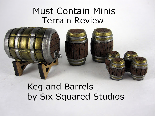 Read more about the article Review: Miniature Keg and Barrels (28mm) by Six Squared Studios