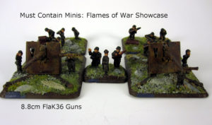 Read more about the article Showcase: German 8.8cm FlaK36 Guns for Flames of War