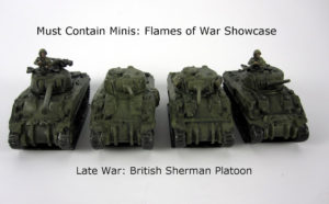 Read more about the article Showcase: British Sherman Platoon (Late War) for Flames of War