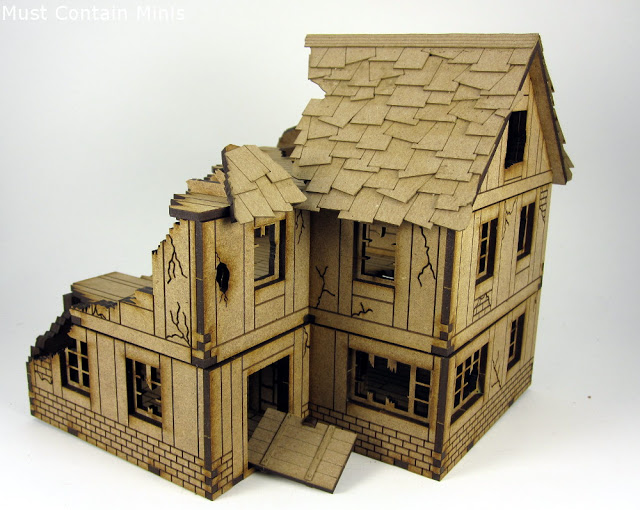XOLK 28mm MDF Normandy House in Ruins