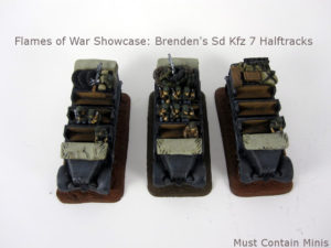 Read more about the article Brenden's Sd Kfz 7 Halftracks: Flames of War Showcase