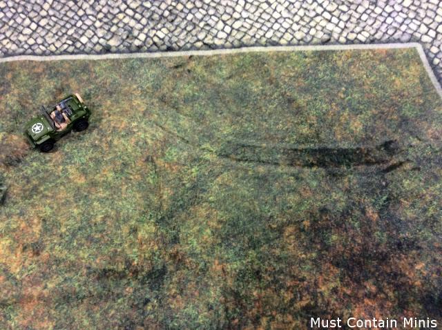 leaving tracks on a Cigar Box Plush Battle Mat