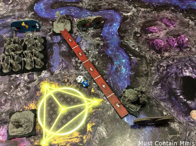Ranged attack by Kari against a Carrion Lancer