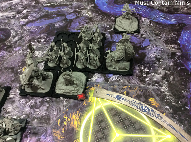 Runewars Heroes and Monsters face off against each other