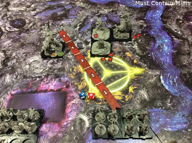 Measuring Range in Runewars by Fantasy Flight Games.