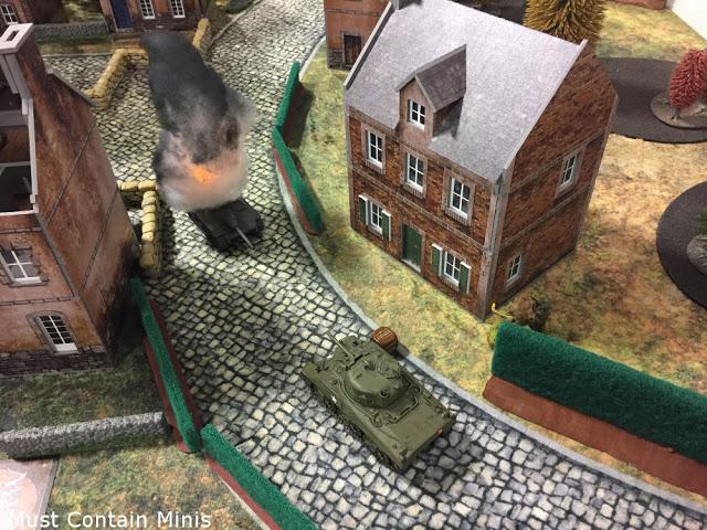 Sherman Kills a StuG in Bolt Action