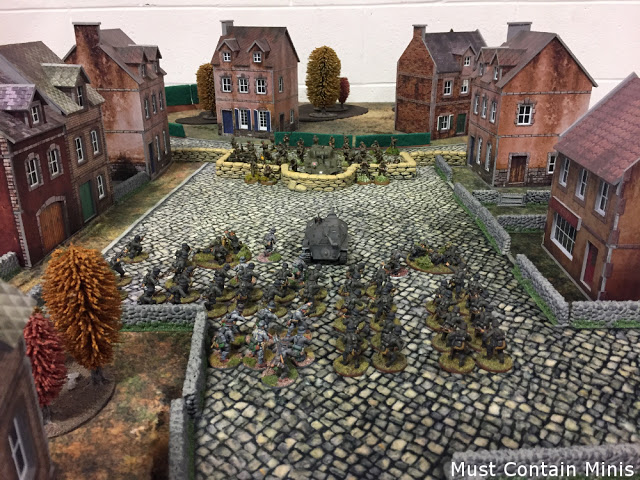Two armies pose before a Bolt Action Battle