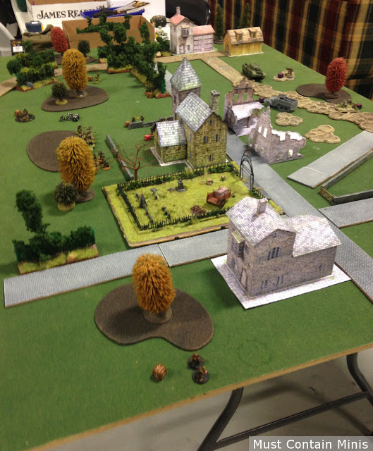 Playing Bolt Action with Paper terrain / buildings