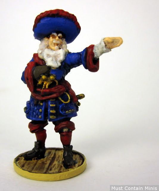 Blood & Plunder French Captain Painted to tabletop quality