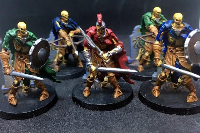 Skeleton Warriors Miniatures - Sword & Sorcery Board Game