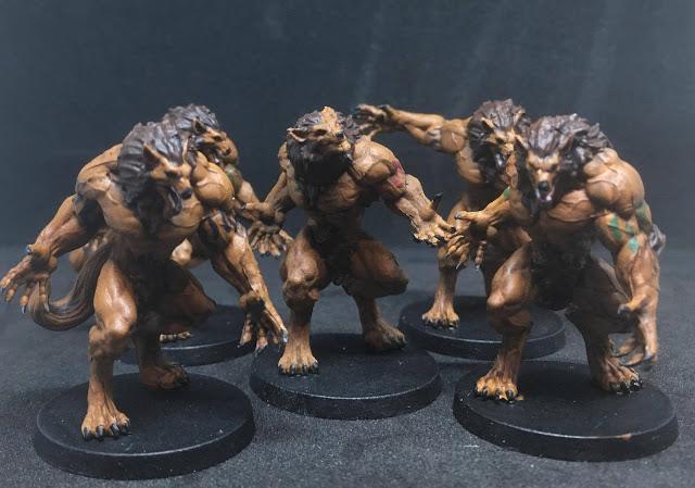 Werewolves Miniatures - Sword & Sorcery Board Game
