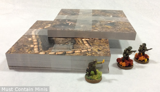 Stack of game tiles for wargaming