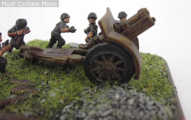 An Italian 10.5cm leFH18/40 Gun painted to represent germans using captured equipment