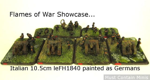 Flames of War Showcase - Italian / German 10.5cm leFH18/40 Artillery Platoon