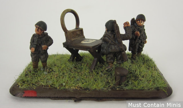 Italian Staff Team Painted as Germans - Flames of War v3