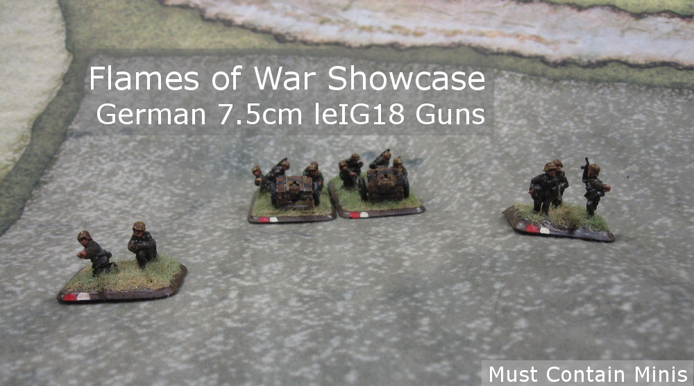 You are currently viewing Showcase: 7.5cm leIG18 Guns for Flames of War