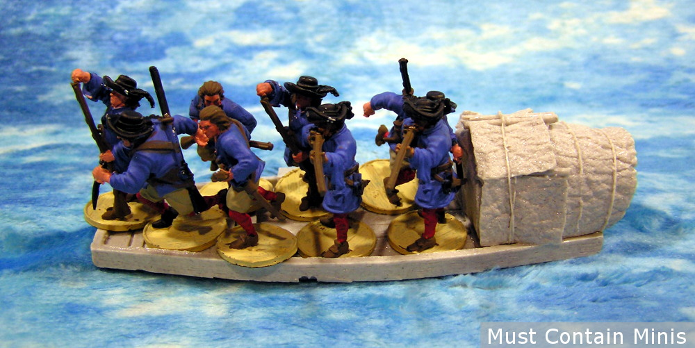 Miniature Sampan Boat for 28mm to 32mm gaming