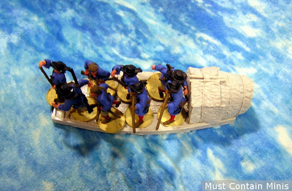 Frostgrave: Ghost Archipelago Sampan Barge used in Blood and Plunder
