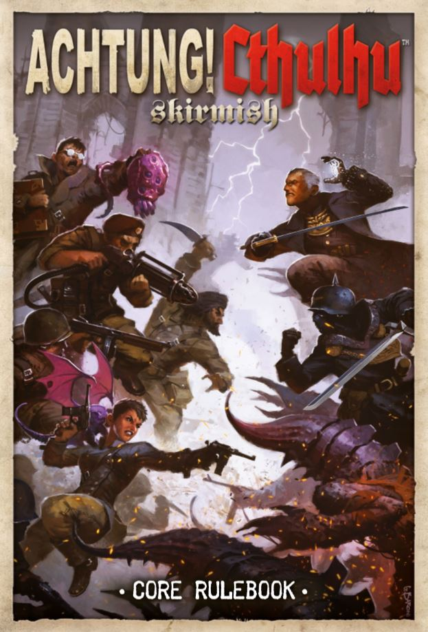 Cover of Achtung! Cthulhu Skirmish Game. Now available for free!!!