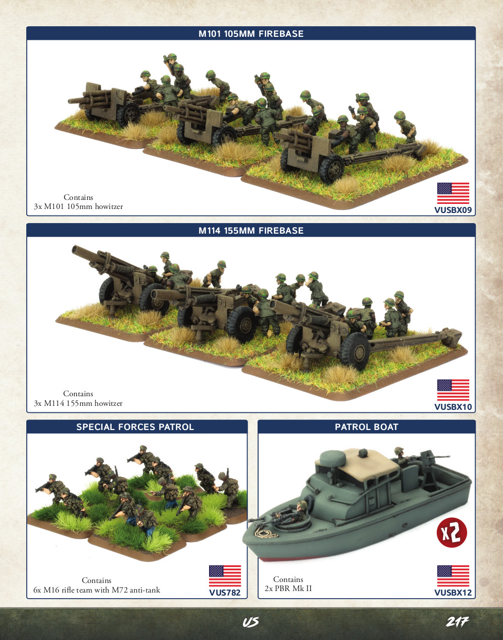 Miniatures Showcase from 'NAM Vietnam Rulebook by Osprey Games and Battlefront