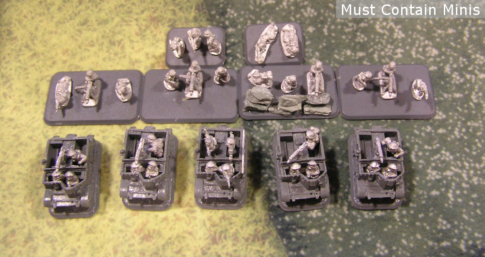 15mm WW2 MMG Carriers and MMG Infantry Platoon