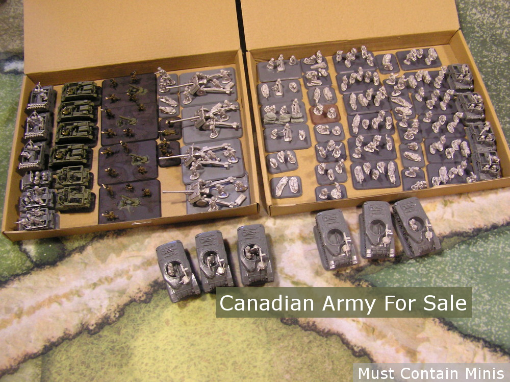 You are currently viewing Flames of War Army for Sale – Canadian/British Rifle Company