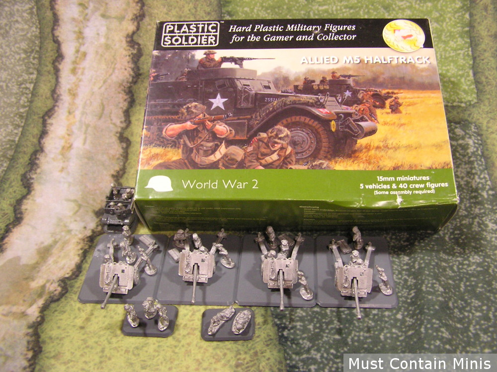Flames of War sale British 17 Pounders and the Halftrack mounts.