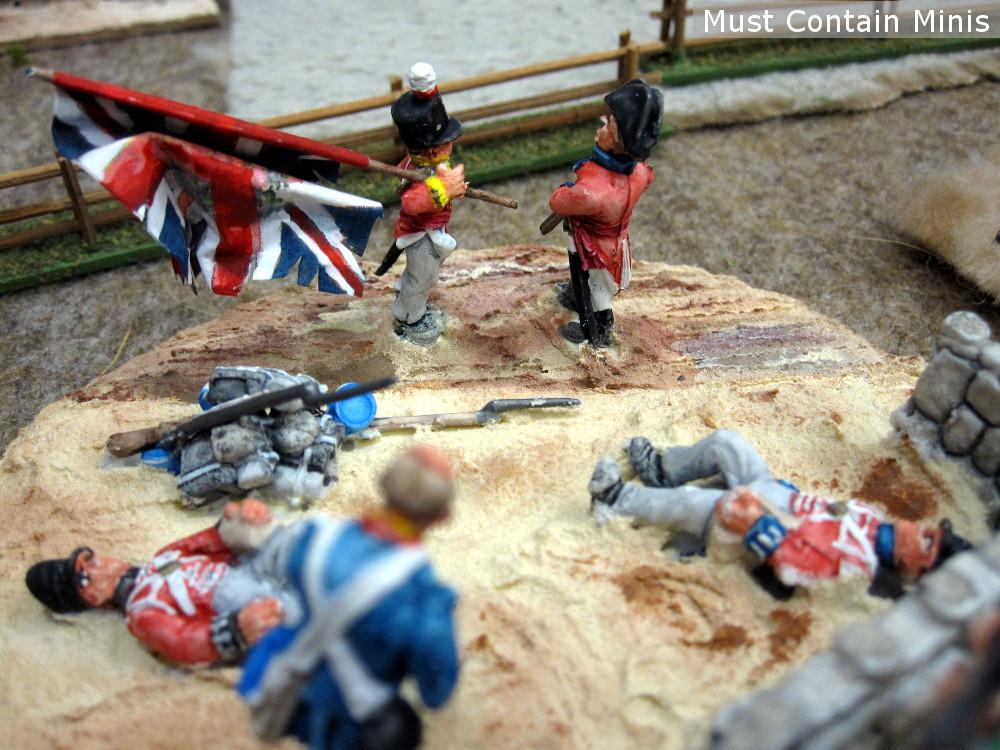 War of 1812 British Surrender in a miniatures game