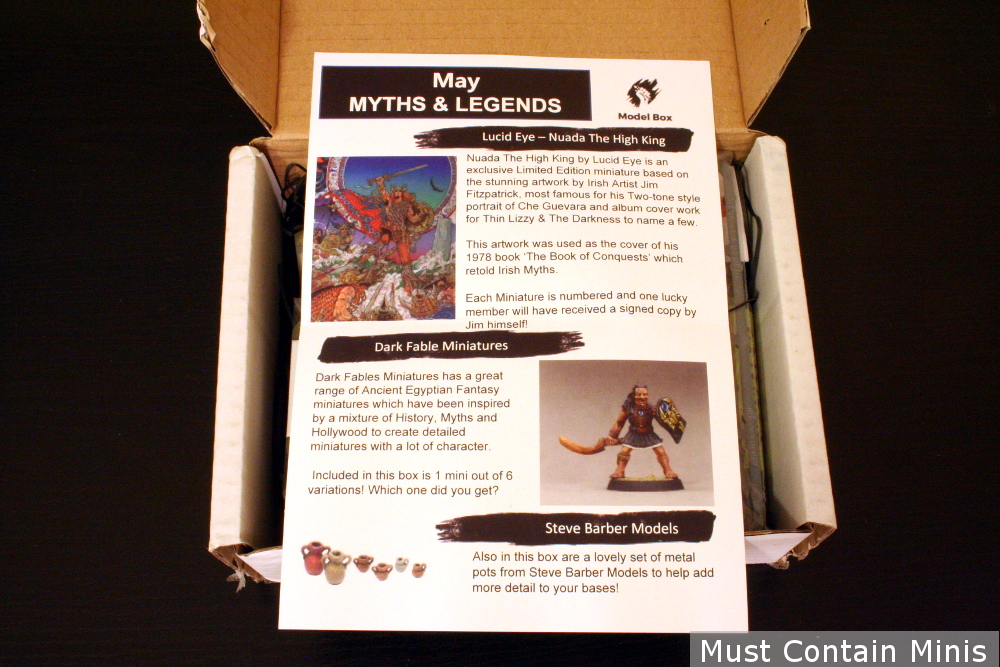 Unboxing a Model Box mystery miniatures box