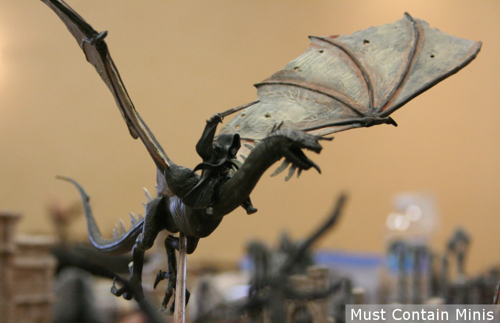 A painted Winged Nazgûl in Lord of the Rings The Hobbit Strategy Battle Game by Games Workshop
