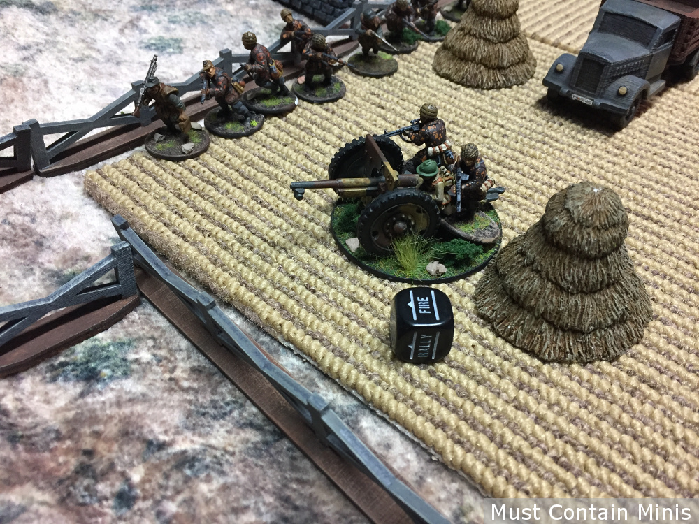 French Howitzer in use by German troops - Bolt Action