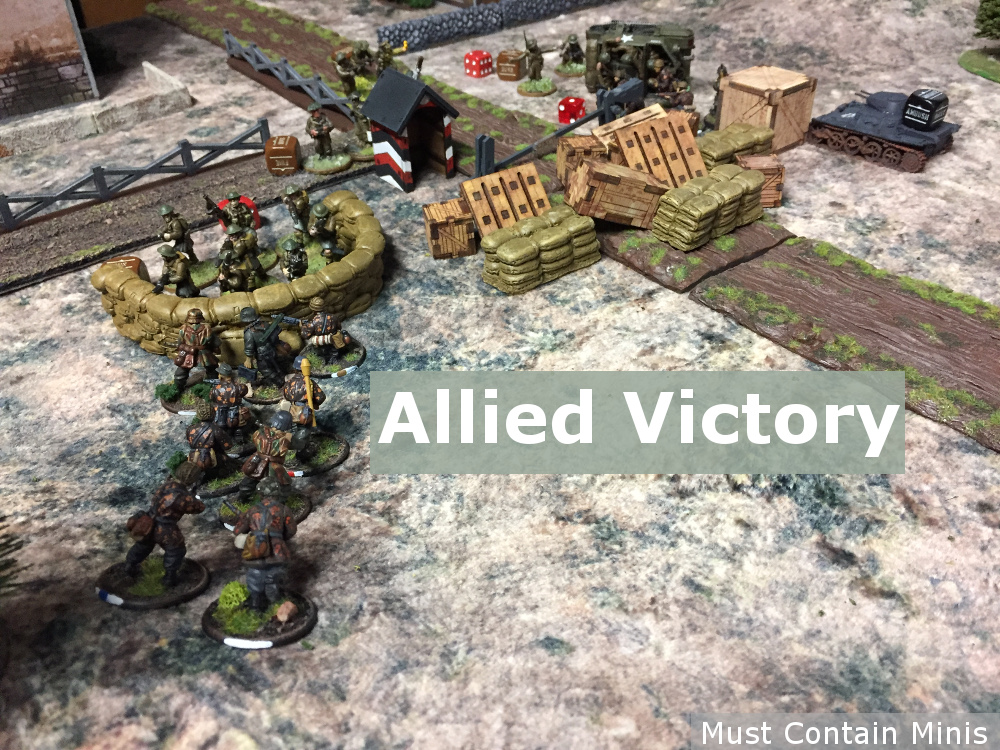 Allied Victory - British vs German Bolt Action Battle Report - AAR