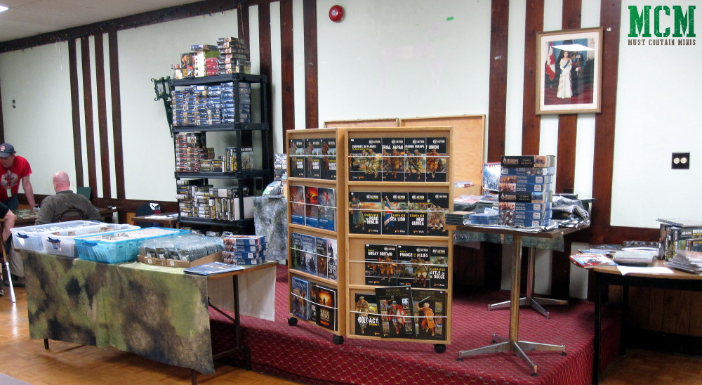 Crucible Crush Vendor Stand at the Broadsword 5 Gaming Convention in Hamilton Ontario