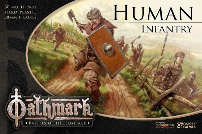 Oathmark Human Box Art by Osprey Games and North Star