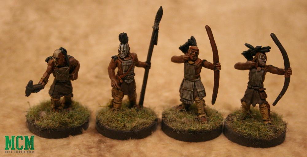 28mm Miniatures of Native Americans - Wendat Huron Warriors