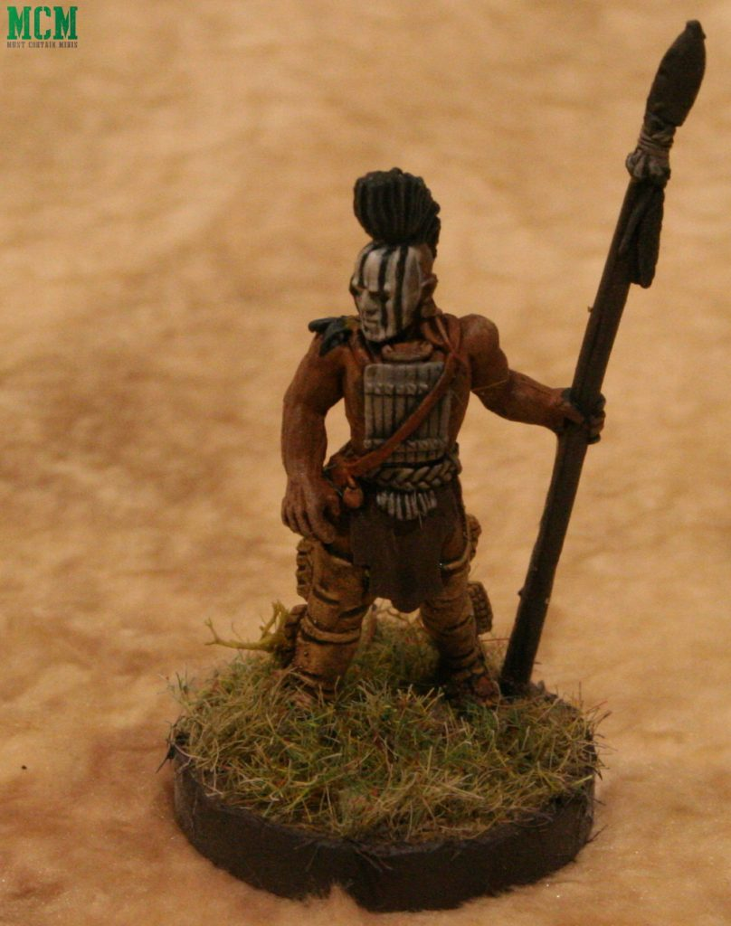 Huron Wendat Warband Leader - Frostgrave Ghost Archipelago - Flint and Feather
