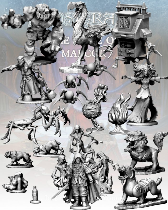 Maze of Malcor Monsters