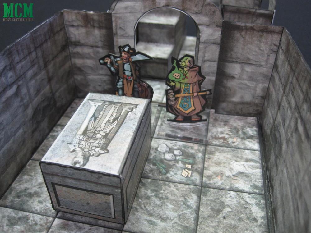 Exploring Darkfast Dungeons - Paper Terrain for RPG Games