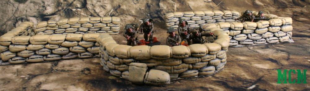Sandbags by Six Squared Studios - Miniature Wargaming Terrain made in Canada.