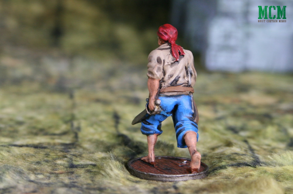 32mm painted historical pirate miniature